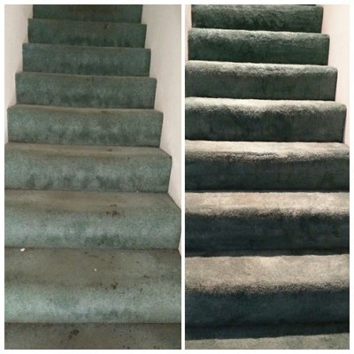 before & after stairs